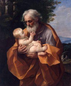 Guido Reni, Saint Joseph avec le Chrsit enfant dans ses bras , 1620