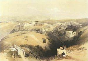 Bethléem, gravure de David Roberts, 1869