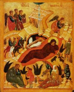 Icône de la Nativité, 1405
