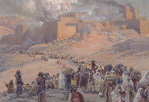 James Tissot, le départ en exil des Jersusalemites, XIX°