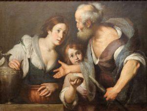 Bernardo Strozzi, Elie et la veuve de Sarepta, 1644