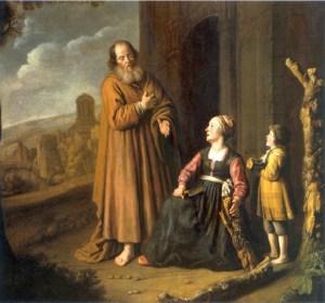 Jan Victors, Elie et la veuve de Sarepta, 1640