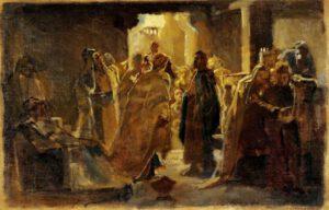 Nikolay Ge, Le Christ à la synagogue, 1868.