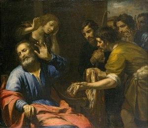 Giovanni Andrea de Ferrari, Jacob recevant la tunique de Joseph,v.1640,