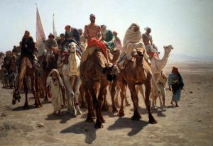 Léon Belly, Pellegrini verso la mecca, 1861
