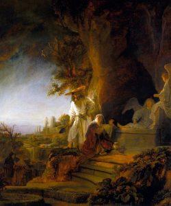 Rembrandt, 1638, Marie Madeleine et le Ressuscité