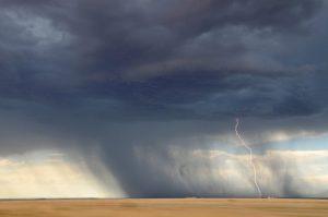 Orage au désert