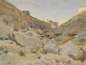 1893, Adolf von Meckel (attr), Paysage du Sinaï