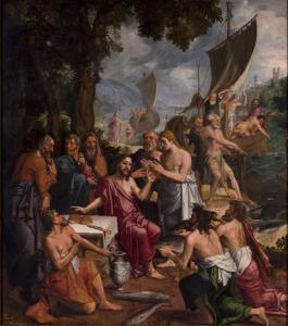 Jan van der Elburcht, Le repas au bord du lac, 1500
