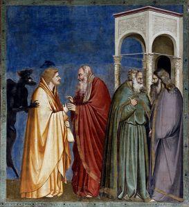 Le paiement de Judas, fresque de Padoue