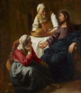 Johannes Jan Vermeer, Le chrsit dans la maison de Marthe et Marie, 1654
