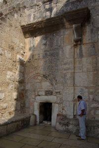 Porte étroite de la basilique de la Nativité (Bethléem)