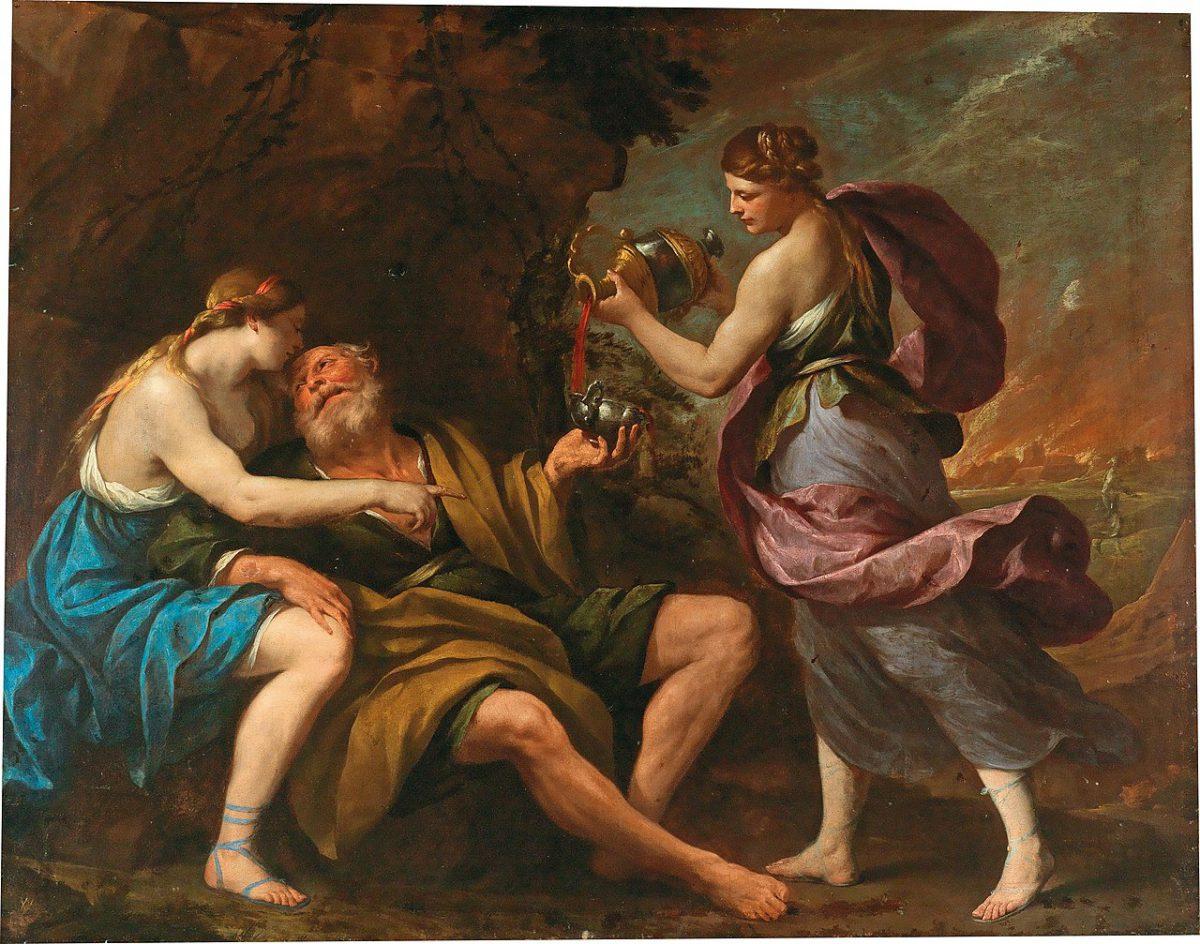 Andrea Vaccaro, Loth et ses filles, 1670