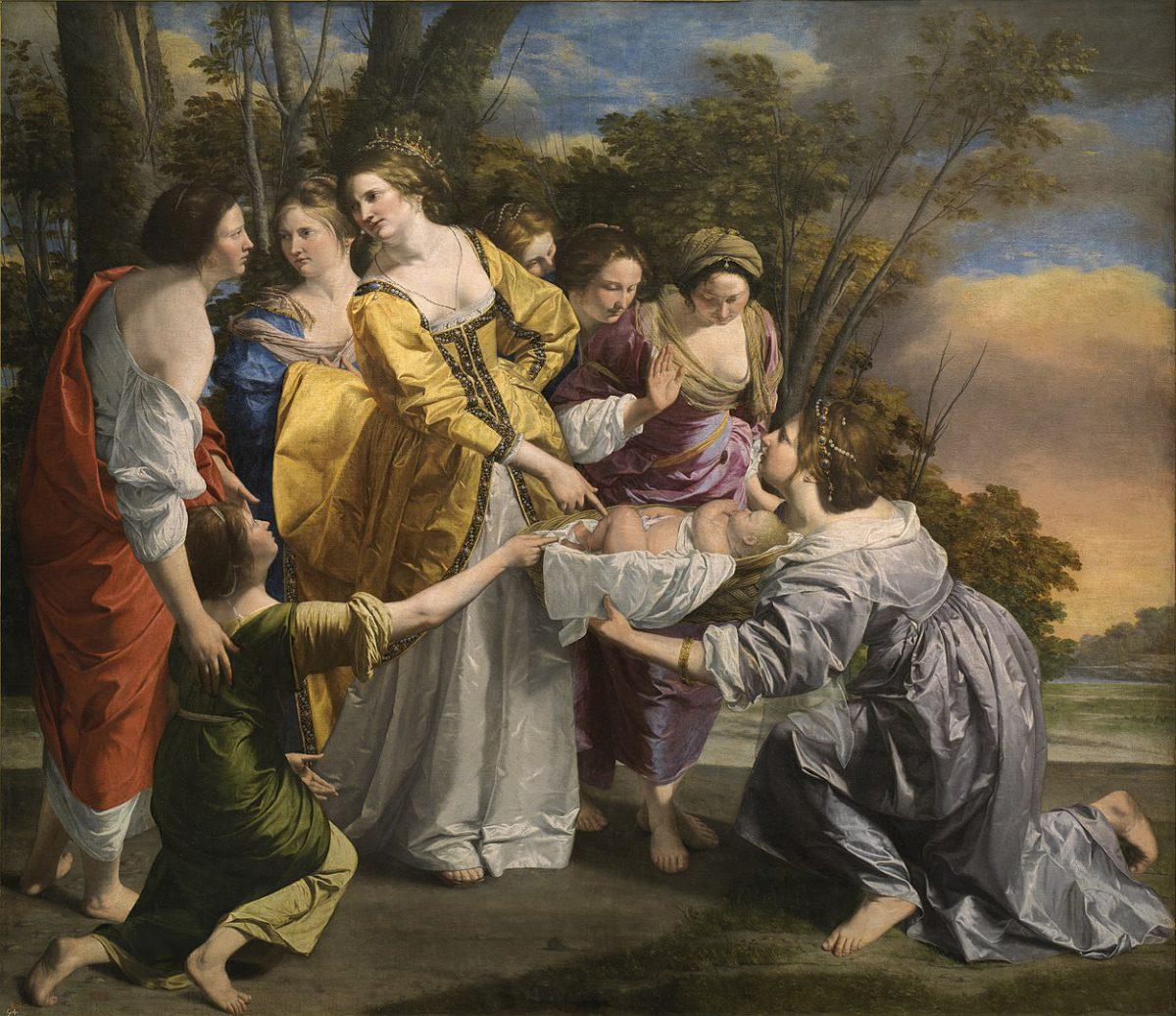 Finding Moses, Orazio Gentileschi, 1633