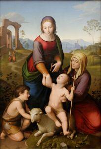 Jésus, Jean le baptiste, Marie et Elisabeth, Johan Friedrich Overbeck, 1825