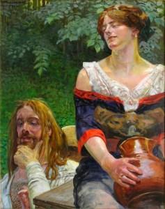 Jacek Malczewski, le Christ et la femme de Samarie, 1912
