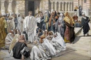 James Tissot, Jésus et les pharisiens, 1891.
