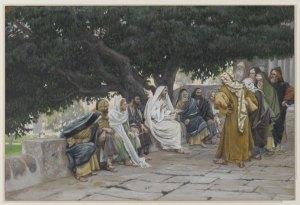 James Tissot, Jésus, les pharisiens et les sadducéens, 1892.