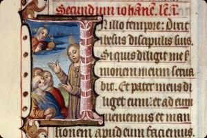 Jésus enseignant, Bréviaire romain. Clermont-Ferrand. XVe. Ms 0069 f 282