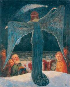 Heinrich_Vogeler, annonce aux bergers - Verkündigung an die Hirten 1902