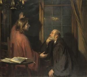 Fritz von Uhde, LeChrist et Nicodème, v.1886