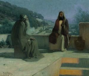Henry Ossawa Tanner, Jésus et Nicodème, 1899
