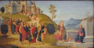 Raffaello Botticini, Le Christ et la Samaritaine, au puits, 1508