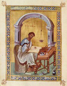 Luc, enluminure byzantine, Xe s.
