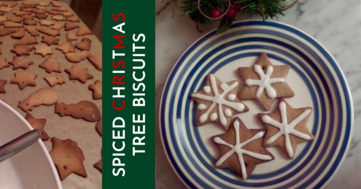 Christmas Tree Spiced Biscuits