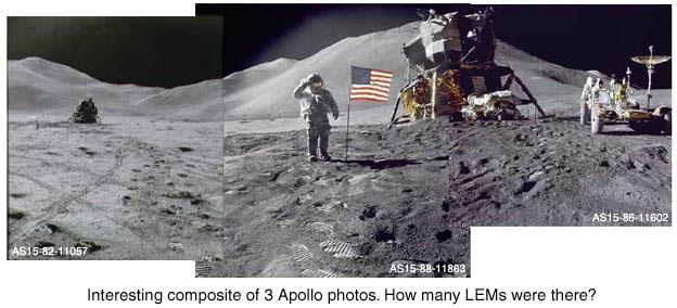 Collage di foto sulla Luna