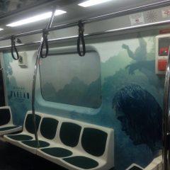 A Lenda de Tarzan   Cenas do filme invadem metrô de São Paulo