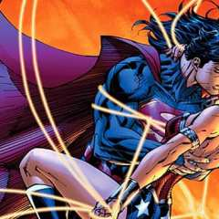 Super homem e Mulher Maravlha | Beijo entre os personagens foi um dos grandes momentos dos personagens dos quadrinhos