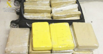 Droga incautada a un militar brasileño en Sevilla
