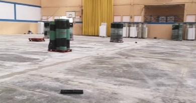 Obras en la pista de Marina Alabau