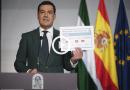 Juanma Moreno mostrando fases de desescalada Covid