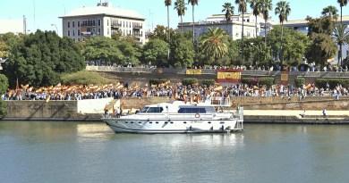 Muelle de la Sal el día de la Fiesta Nacional