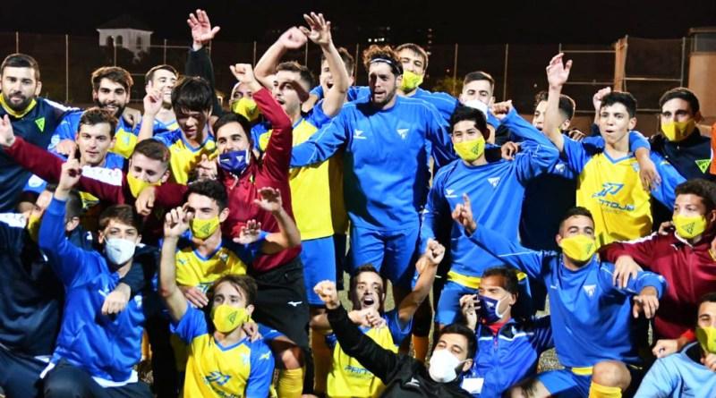U.D. Tomares celebrando su pase a la Copa del Rey