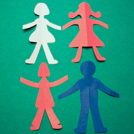 How To Make Paper Doll Chains Friday Fun Craft Projects