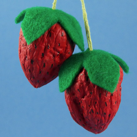 Make Sweet Strawberries From Walnuts Friday Fun Craft