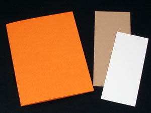 Cut cardstock for card and bookmark