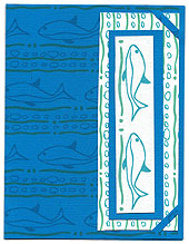 Bookmark greeting card made using Squiggles and Fish ePaper