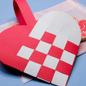 How To Make Woven Paper Heart Baskets Valentines Day