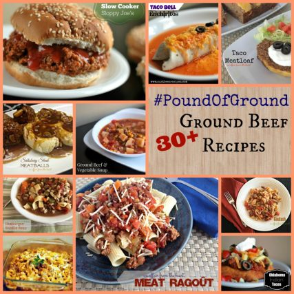 #PoundOfGround 30+ Ground Beef Recipes | Aunt Bee's Recipes