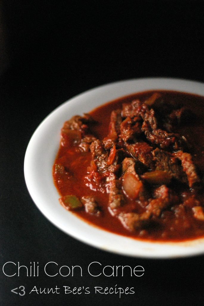 Chili Con Carne | Aunt Bee's Recipes