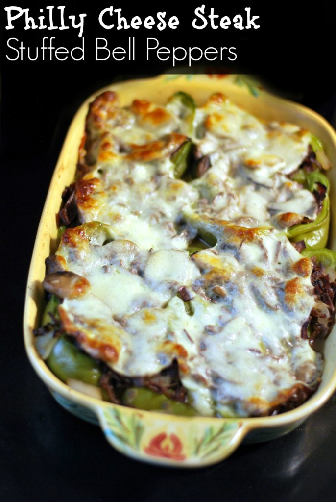 Philly Cheese Steak Stuffed Bell Peppers | Aunt Bee's Recipes