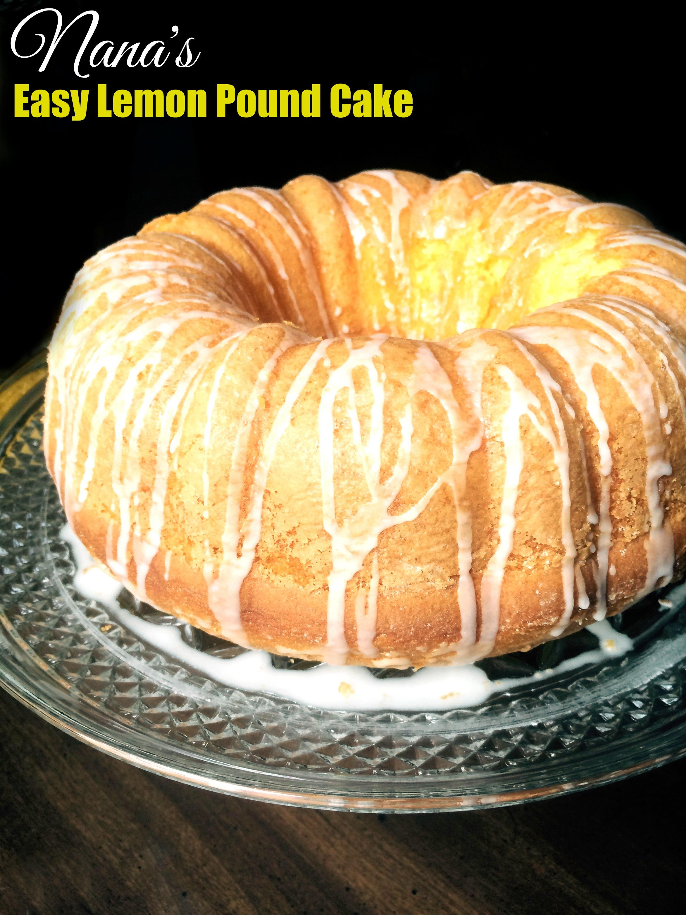 Lemon Velvet Pound Cake
