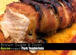 Brown Sugar & Dijon Bacon Wrapped Pork Tenderloin