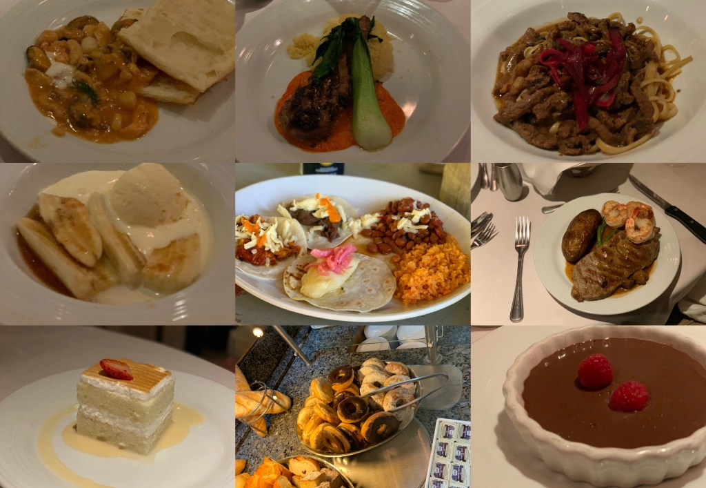 cruise food collage 2