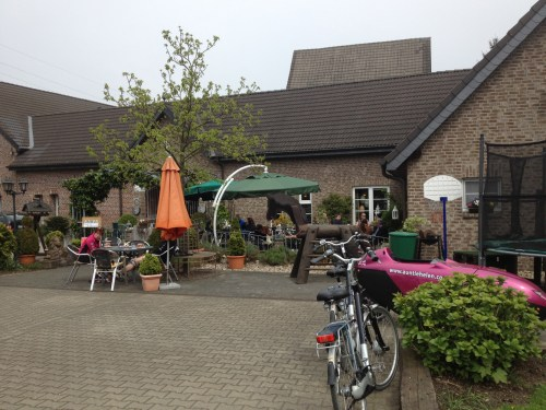 Cafe on the Bahnradweg