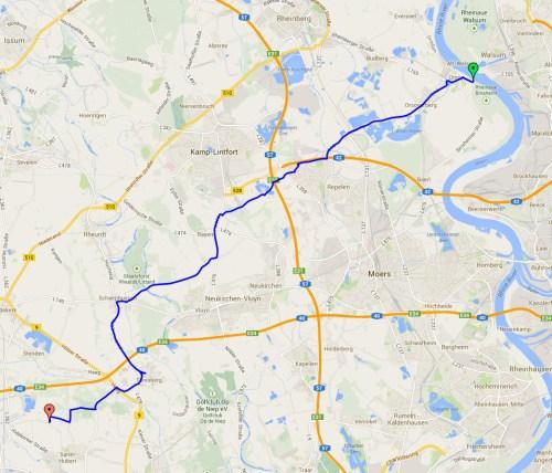 Return journey track